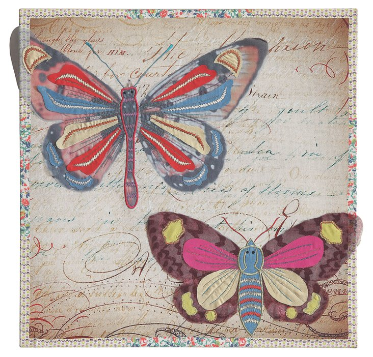 Cotton Butterfly Wall Decor