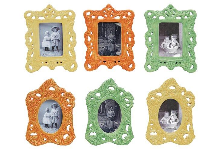 Asst. of 6 Fall Ceramic Frames, 3x4