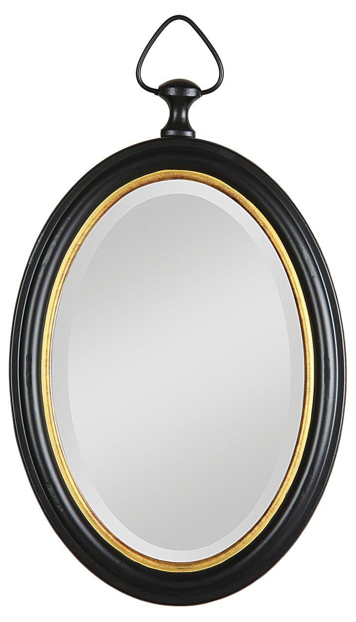 Metal Framed Beveled Mirror