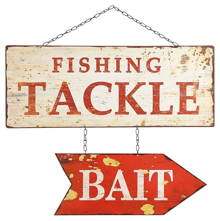 Fishing Tackle Bait Sign