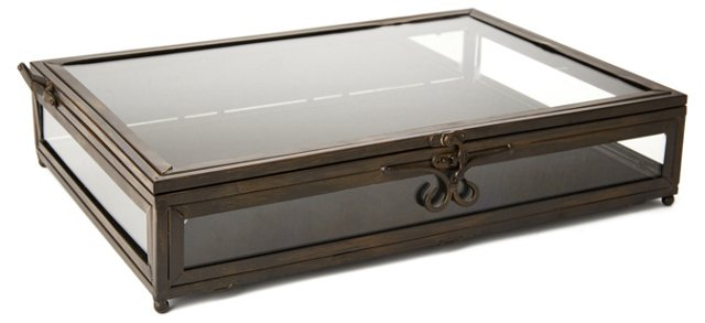 "17"" Treasure Trove Box, Black"