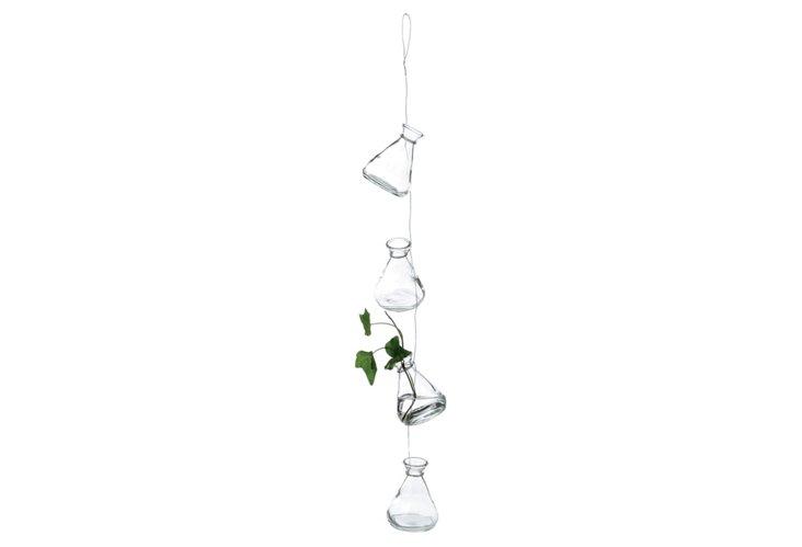Hanging 4-Bud Vases