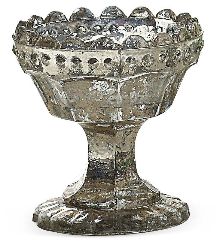 S/3 Mercury-Glass Tea Light Holders