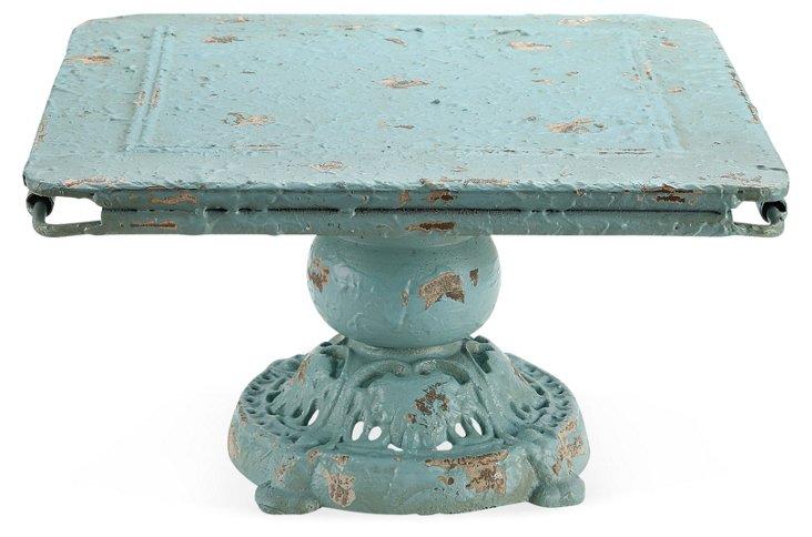 "11"" Heirloom Pedestal, Blue"