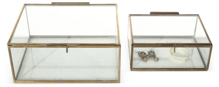 Asst. of 2 Display Boxes, Gold