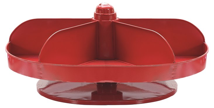 "20"" Rotating Hardware Bin, Red"