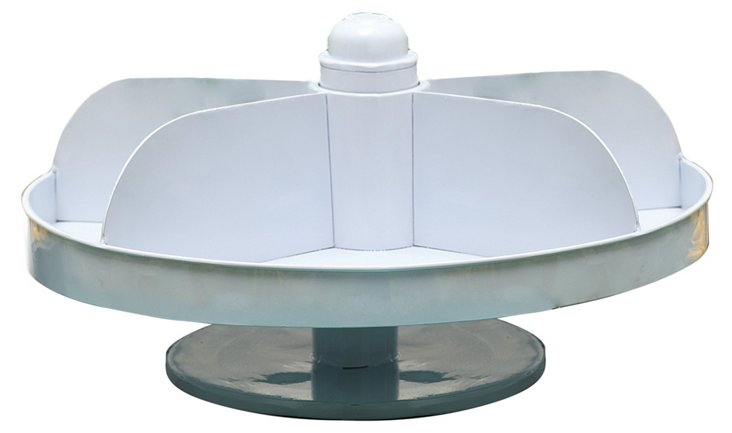 "14"" Rotating Tray, White"