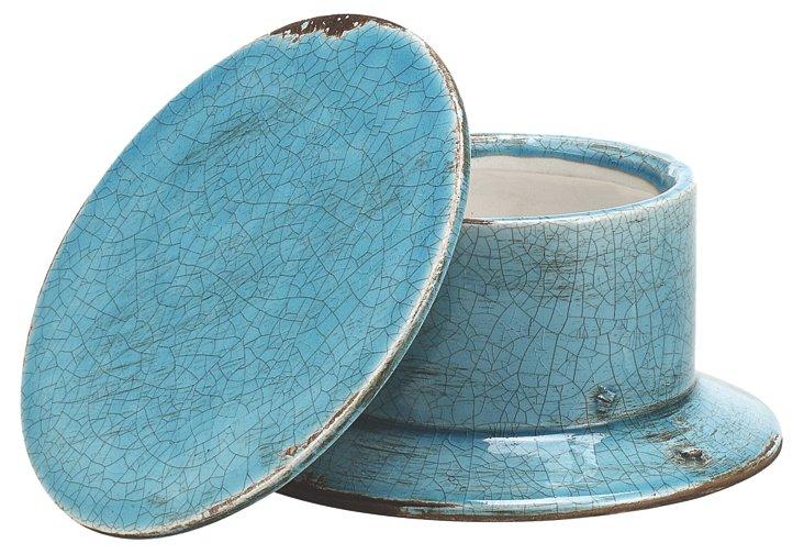 "8"" Garden Terracotta Jar, Blue"