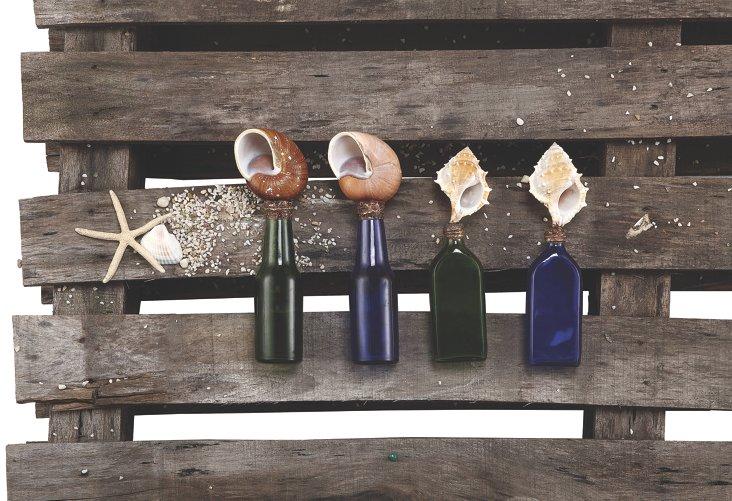 Asst. of 4 Shell-Topped Bottles