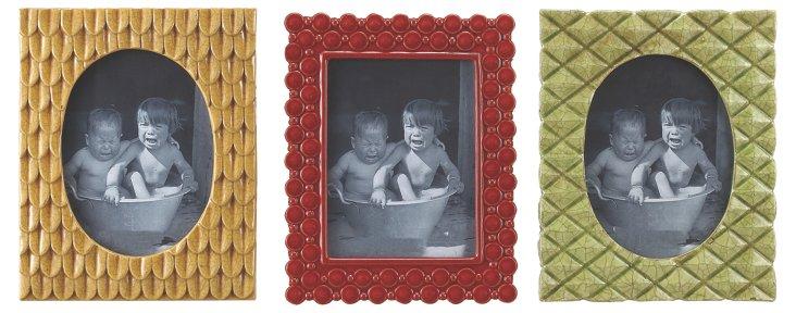 """Asst. of 3 10"""" Stoneware Frames, 5x7"""
