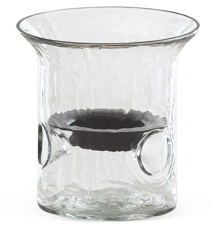 "4"" Glass Hurricane Candleholder, Clear"