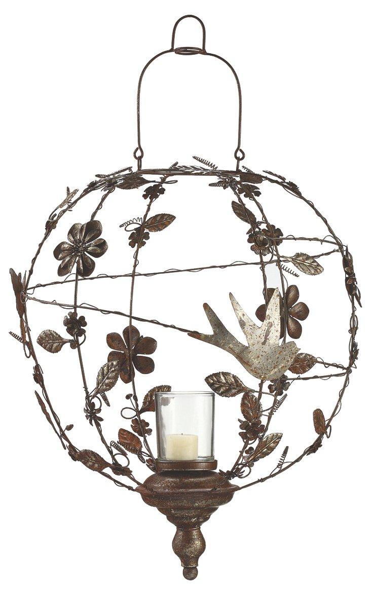 Atrium Candleholder, Rust