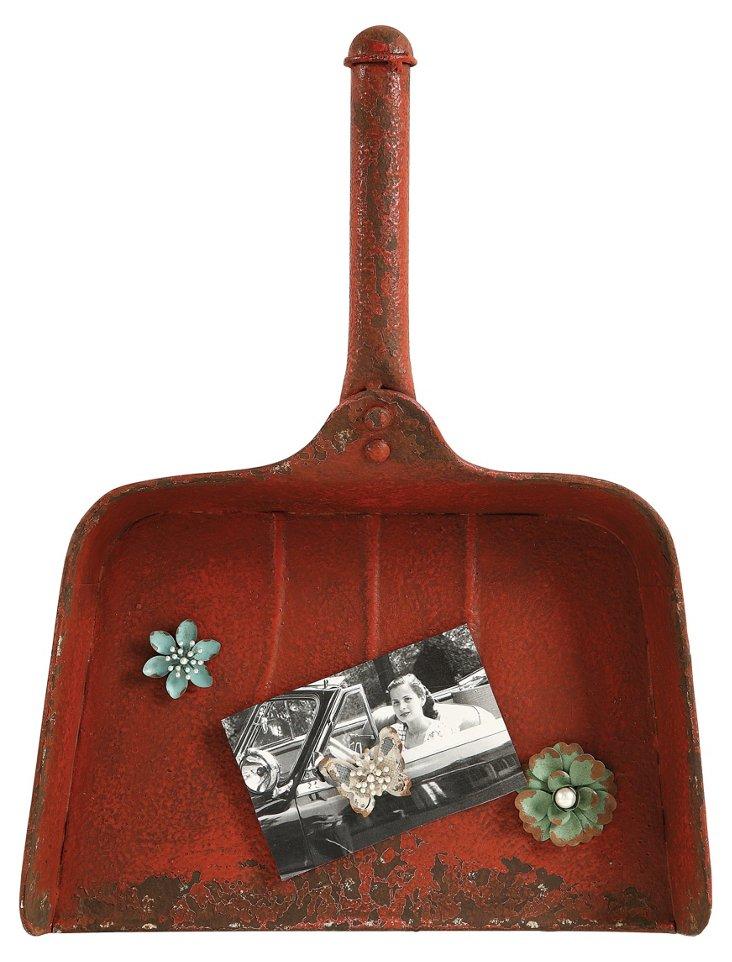 Dust Pan Magnet Board w/ Flower Magnets