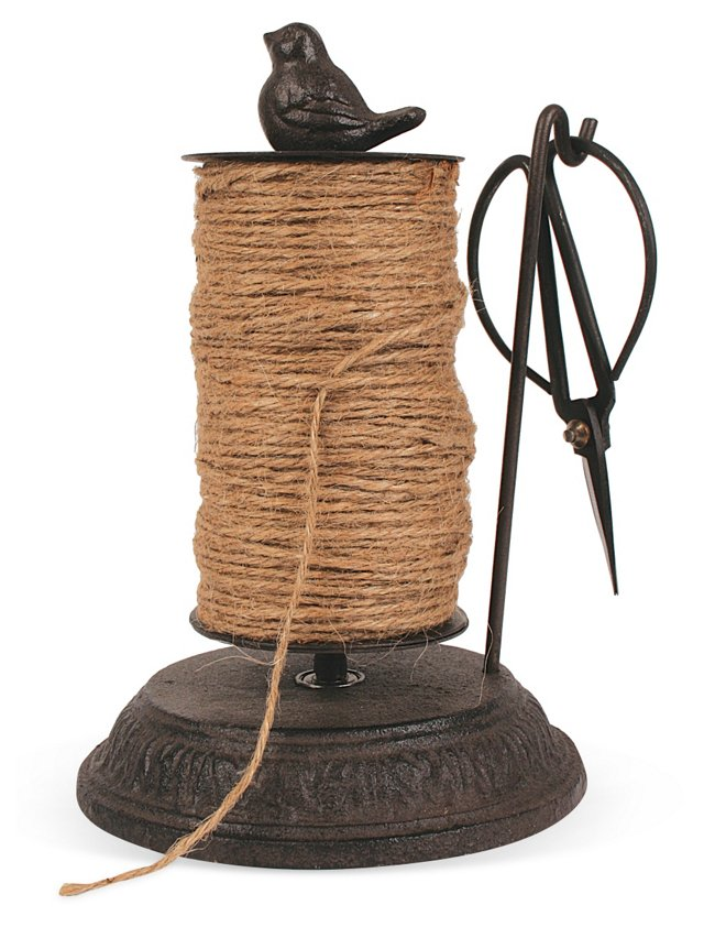 "8"" Jute String w/ Holder & Scissors"