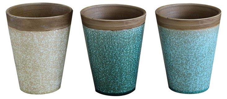 S/3 Ceramic Planters