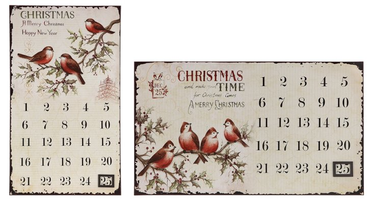 22x13 Advents Calendars, Asst. of 2