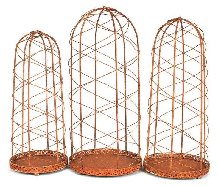 Wire Cloches, Asst. of 3
