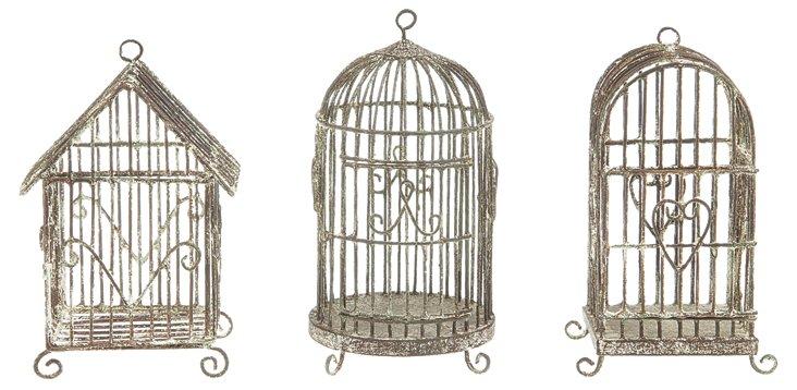 Hanging Birdhouses, Asst. of 3