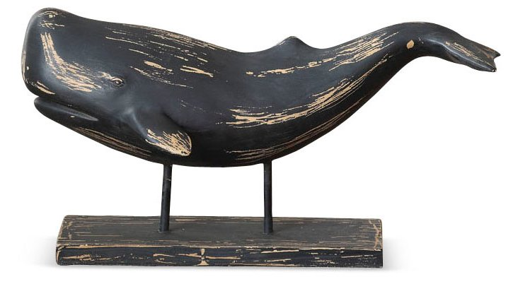 "16"" Whale on Stand, Black"