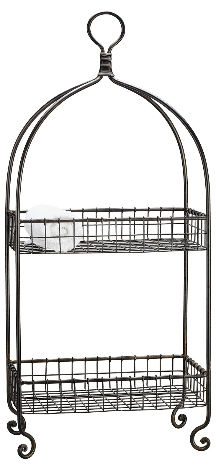 2-Tier Metal Basket