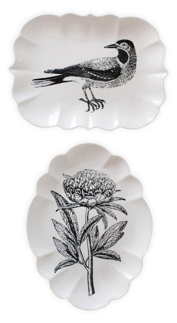 Asst. of 2 Stoneware Nature Plates
