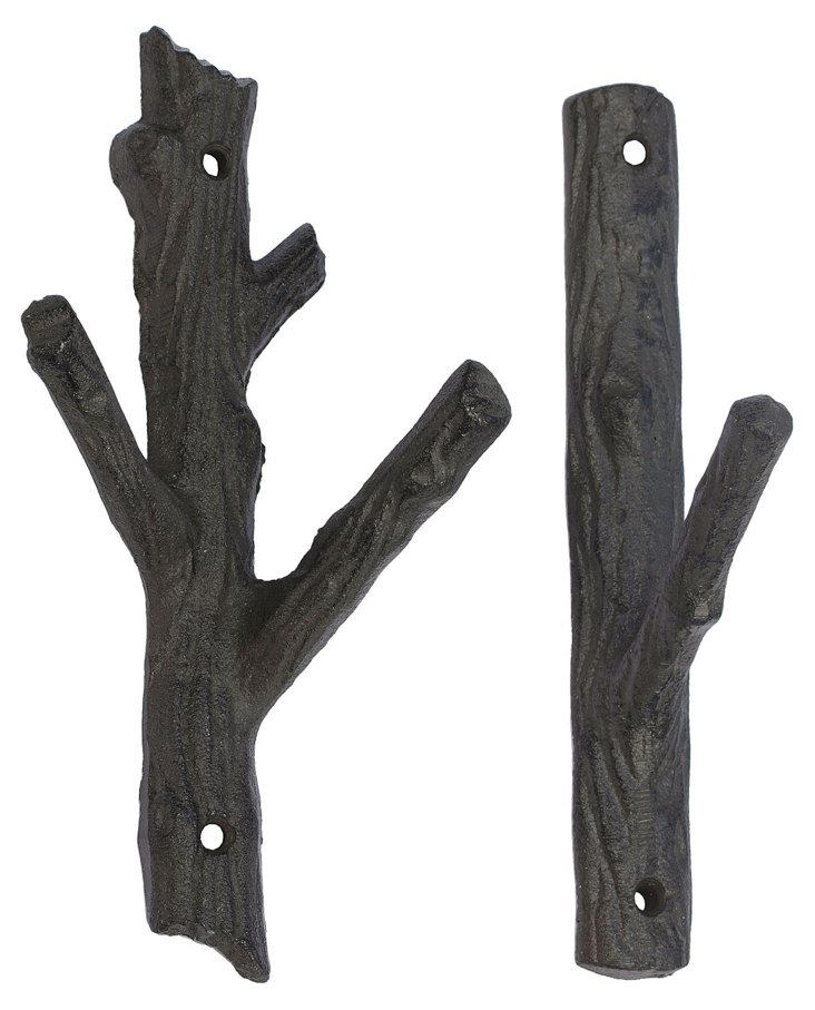 S/2 Iron Branch Hooks