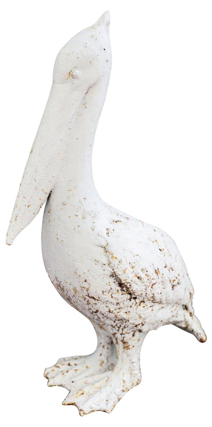 """17"""" Pelican Figurine, White"""