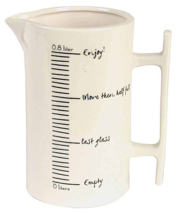 """Ceramic Measuring Pitcher, 7"""" Cream"""