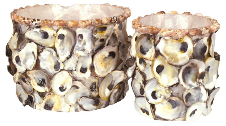 Asst. of 2 Oyster Shell and Capiz Jars