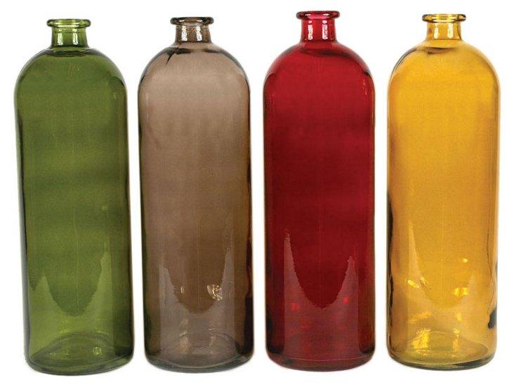 Asst. of 4 Glass Bottles