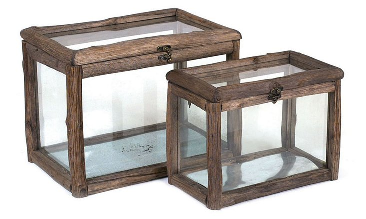 Asst. of 2 Display Boxes, Brown