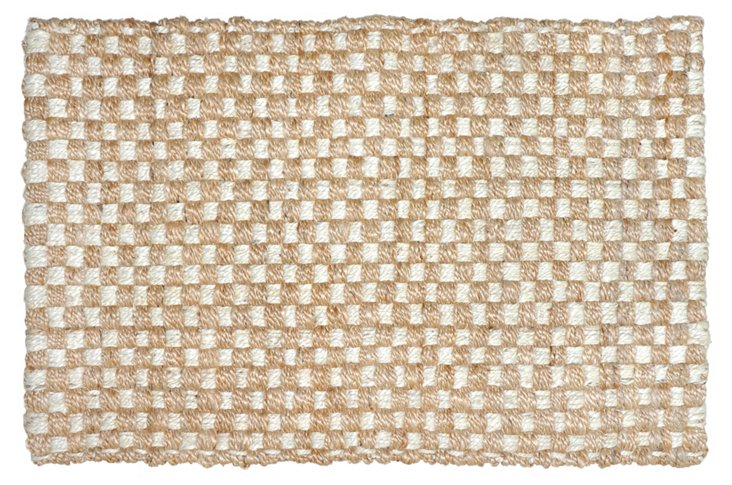 2'x3' Cable Jute Rug, Bleach/Natural