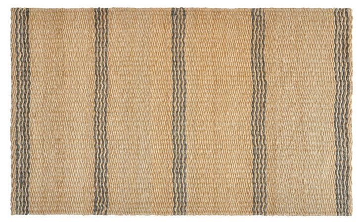 Stripe Jute Rug, Gray/Natural