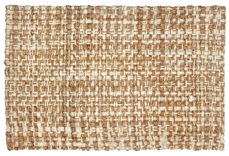 Panama Jute Rug, Tan/Linen