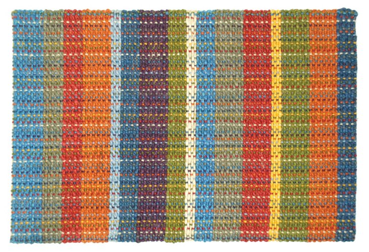 8'x10' Braided Jute Rug, Multi Stripe