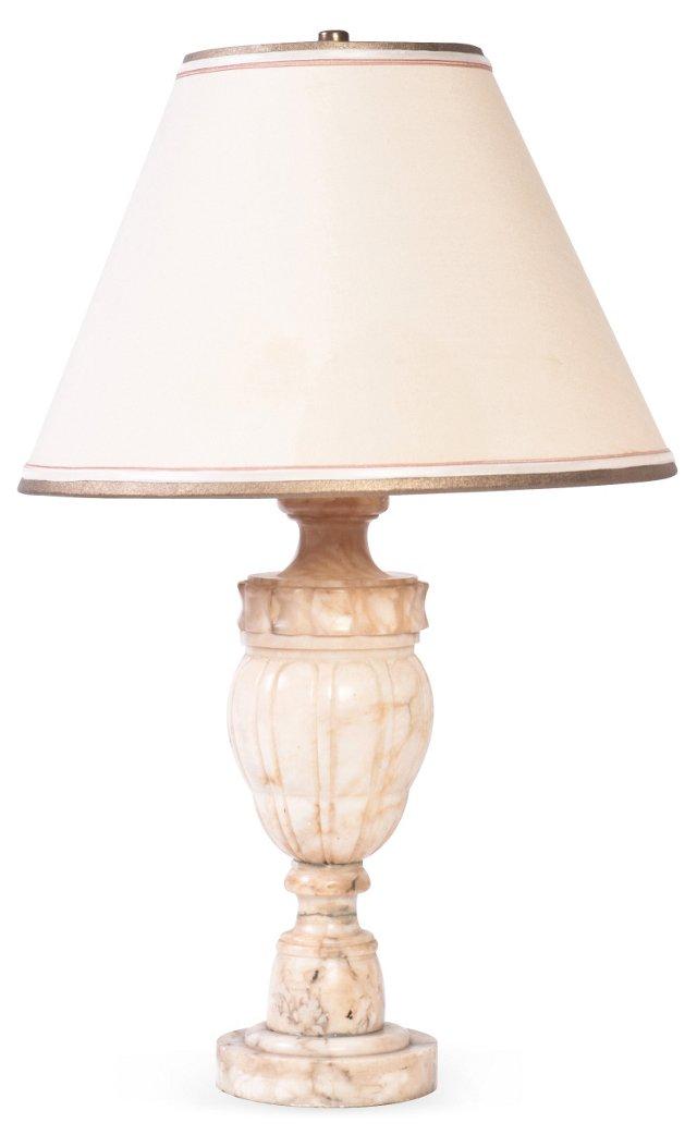 1930s Alabaster Lamp, Large