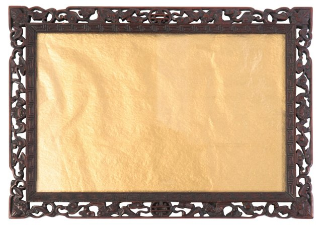 Hand-Carved Chinese Frame