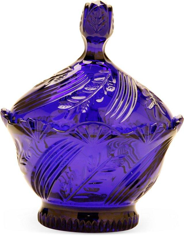 Cobalt Blue Glass Centerpiece