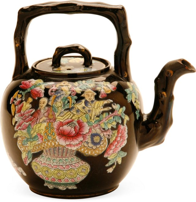 Staffordshire Chinoiserie Teapot