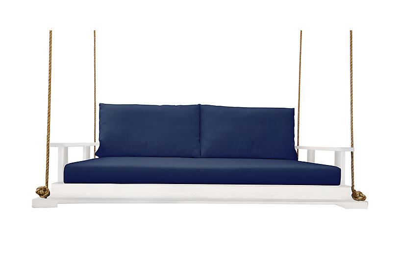 Hampton Bed Swing, White/Navy