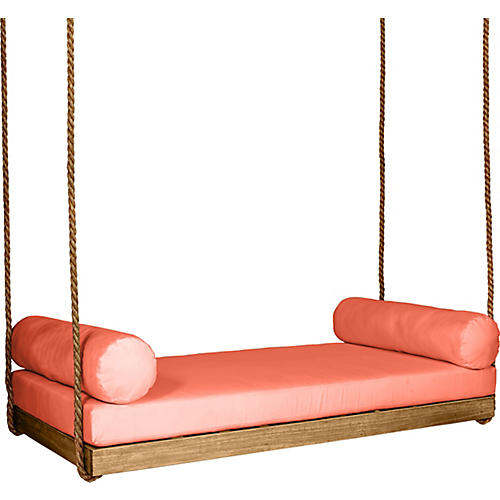 Sipsey Porch Swing, Natural/Orange Sunbrella
