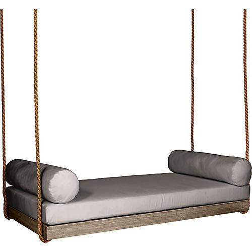 Sipsey Porch Swing, Driftwood/Gray Sunbrella