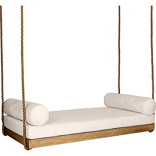 Sipsey Porch Swing Natural Beige Sunbrella