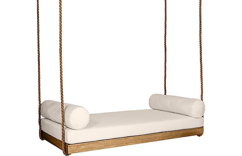 Sipsey Porch Swing, Natural/Beige Sunbrella