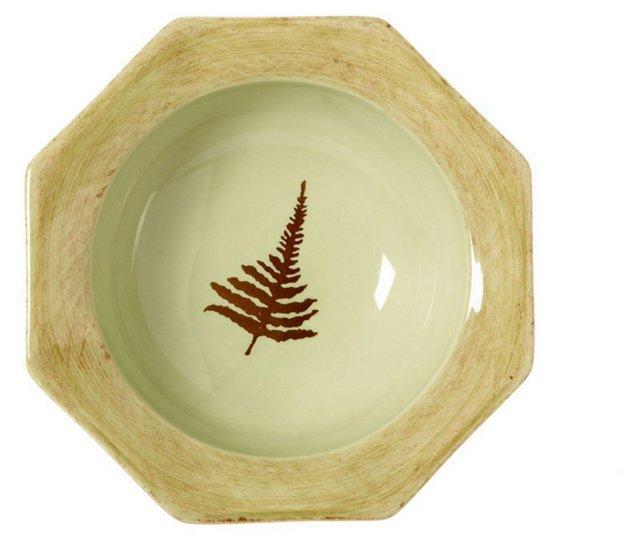 Octagonal Fern Serving Bowl