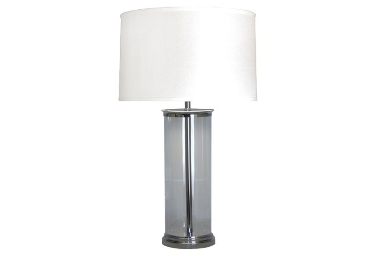 Allen Glass and Metal Table Lamp