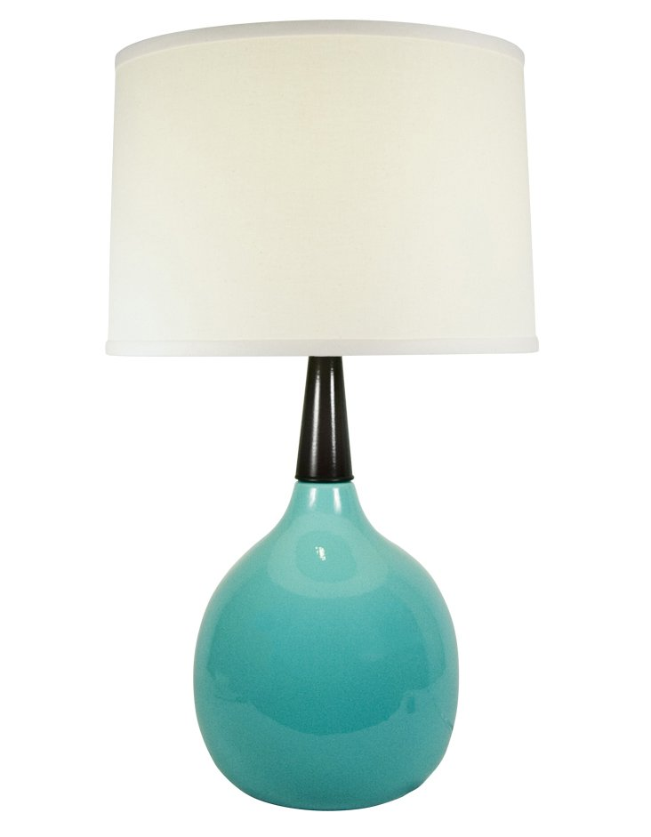 Devin Table Lamp, Blue