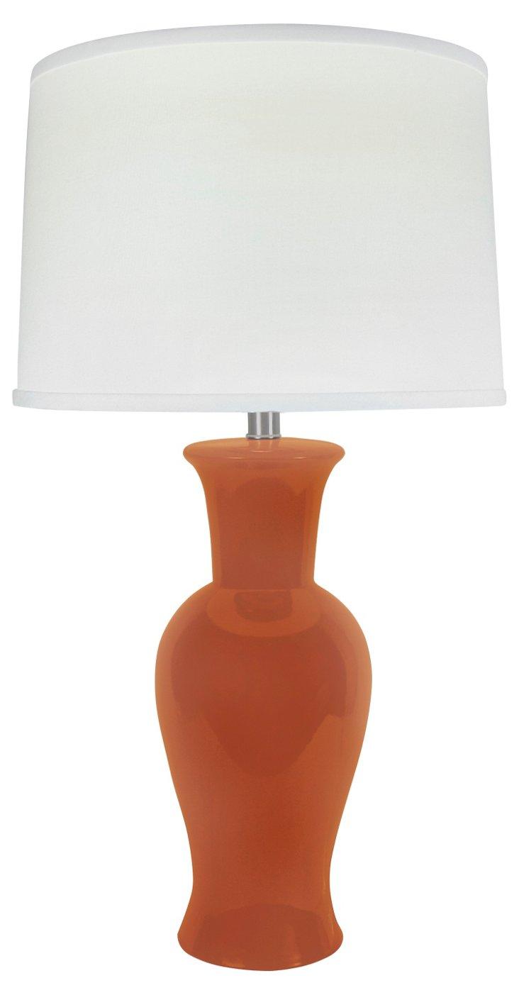 Caroline Table Lamp, Tangerine