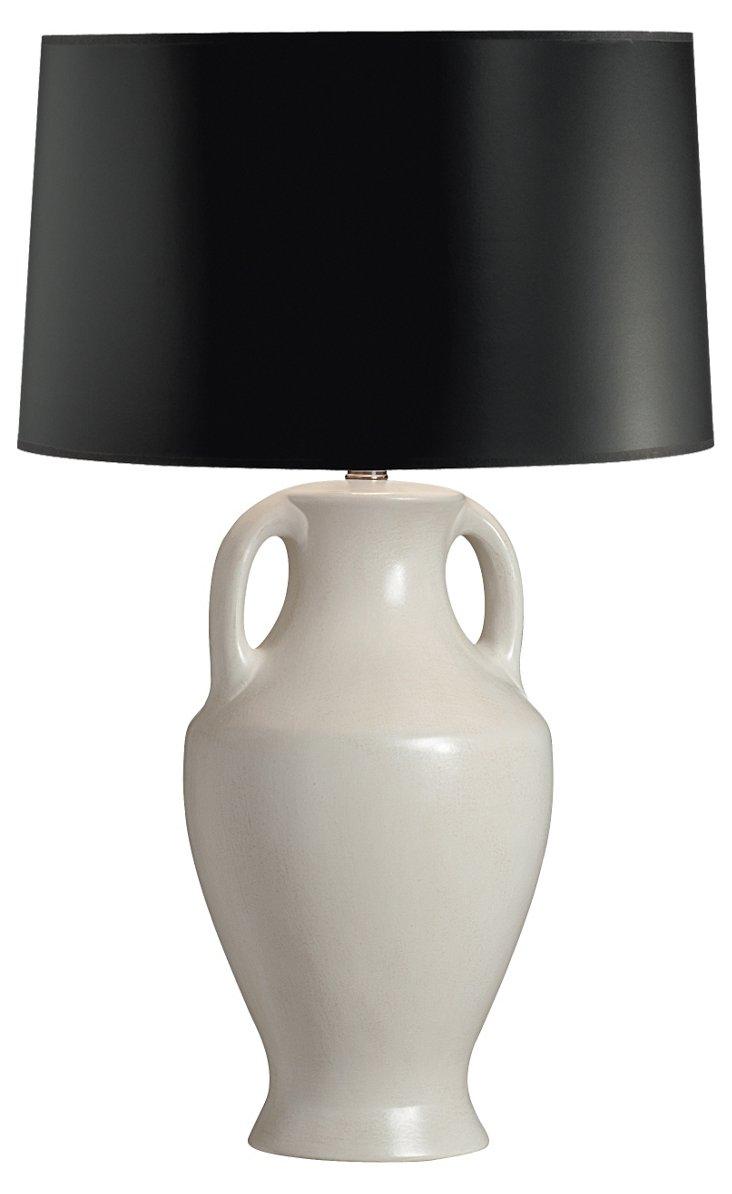 Demi Ceramic Table Lamp, Black