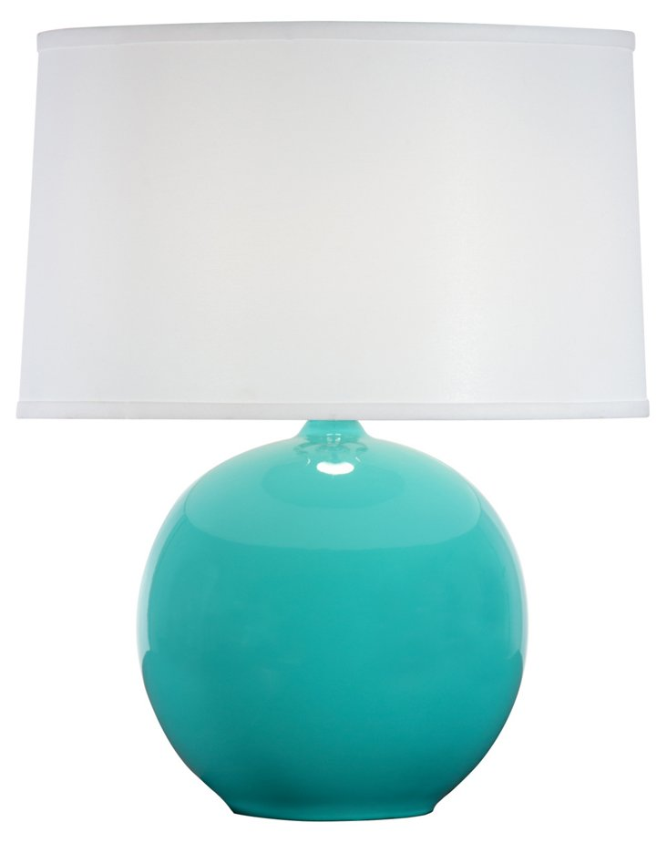 Sphere Table Lamp, Sea Blue Gloss